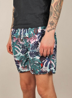 Dedicated Color leaves swim shorts Green