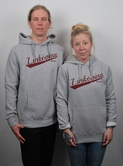 Sportif Linköping script hood Grey heather