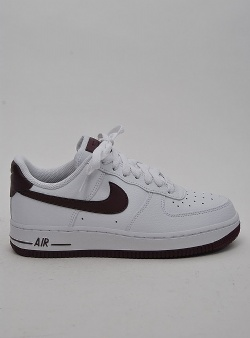 Nike Air force 1 womens White bordeaux