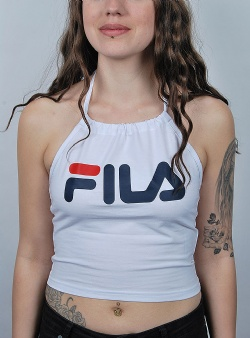 Fila Chiara halterneck top Bright white