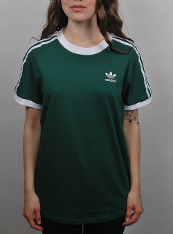 Adidas 3 stripes tee womens Cgreen