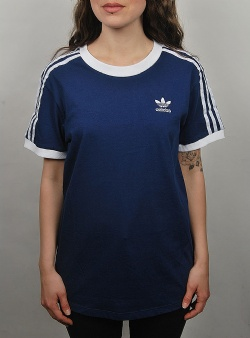Adidas 3 stripes tee womens Dkblue