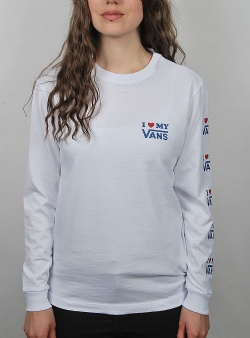 Vans Love ls tee White
