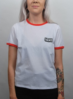Vans Avenue ringer tee White pop