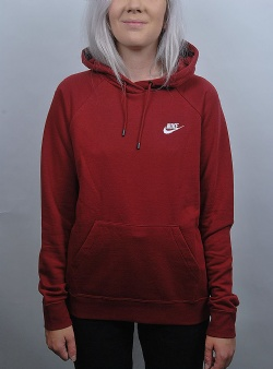 Nike Nsw essential hoodie flc Team red