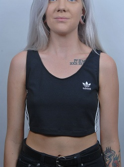Adidas Crop tank Black white