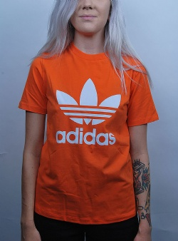 Adidas Trefoil tee Orange