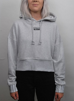 Adidas Vocal crop hood Lgreyh