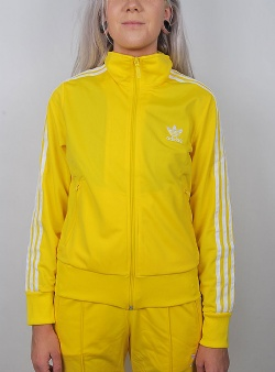 Adidas Firebird w track top Yellow