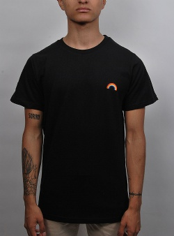 Dedicated Rainbow tee Black