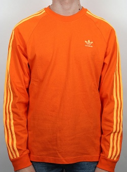 Adidas BLC 3 stripes ls tee Orange