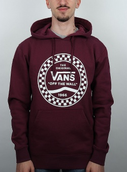 Vans Checkered side stripe hood Prune