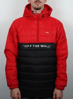 Vans Carlon anorak Racing red black