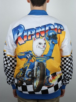 Rip n Dip Speed racing varsity jacket White