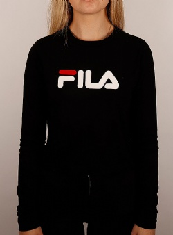 Fila Marceline cropped ls tee Black