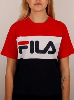 Fila Allison tee Black iris bright white true red