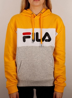 Fila Lory hoody Light grey melange bros bright white citrus