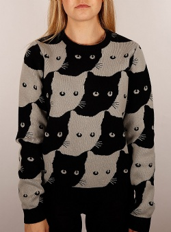 Dedicated Arendal knit sweater cats Grey