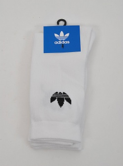 Adidas Thin trefoil crew sock 2 pack White