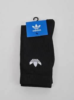 Adidas Thin trefoil crew sock 2 pack Black