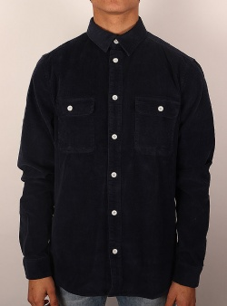 Revolution Long sleeve courdroy shirt Navy