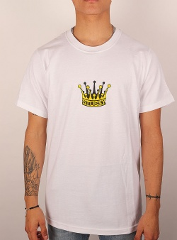 Stussy Royal crown tee White