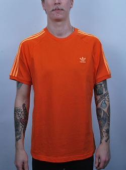 Adidas 3 stripes tee Orange