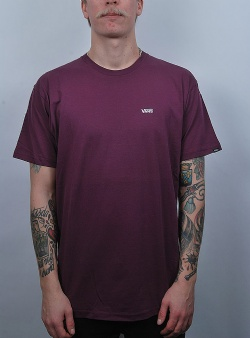 Vans Left chest logo tee Prune