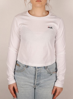 Fila Eaven cropped ls tee Bright white