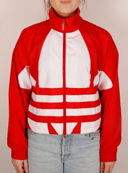 Adidas Lrg logo w track top Lusred white