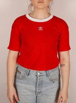 Adidas Crop top Lusred white