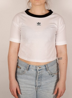 Adidas Crop top White black