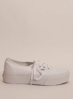 Vans Authentic platform True white