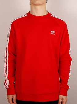 Adidas 3 stripes crew Lusred