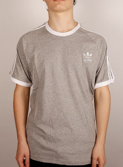 Adidas 3 stripes t-shirt Mgreyh
