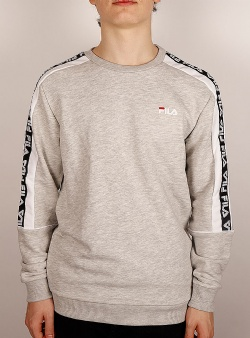 Fila Teom crew sweat Light grey mel bros bright white