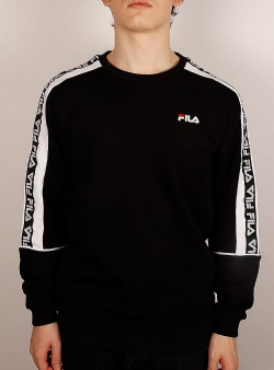 Fila Teom crew sweat Black bright white