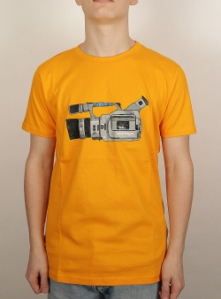 Wemoto Camera tee Yellow