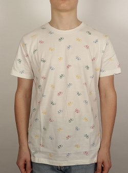 Dedicated Bike pattern tee Off white