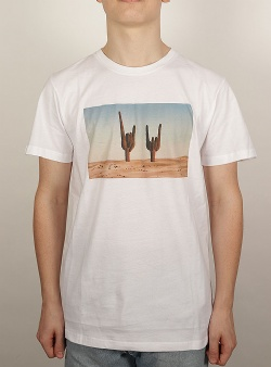 Dedicated Cactus sign tee White
