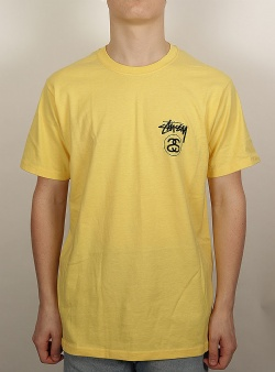 Stussy Stock link tee Yellow