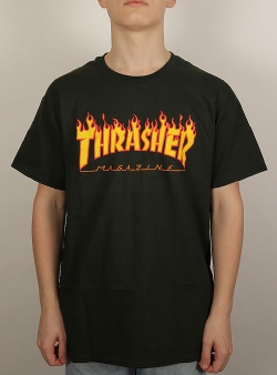 Thrasher Flame tee Forest green