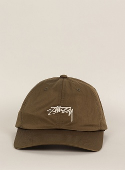 Stussy Lined nylon low pro cap Green