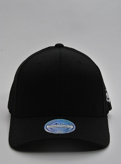 Mitchell and Ness Blank 110 laurel logo snapback Black