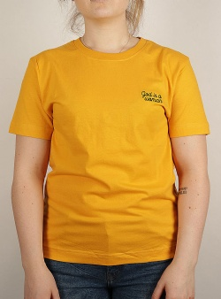 Dedicated God is a woman tee Yellow