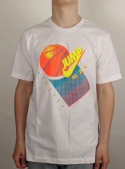 Nike Jordan tee White lemon