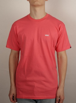 Vans Left chest logo tee Calypso coral