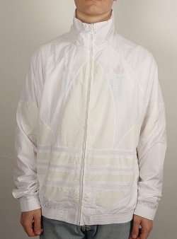 Adidas Big trefoil track top White