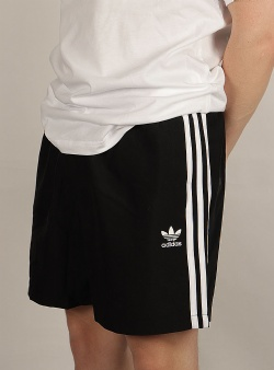 Adidas 3 stripes swim shorts Black