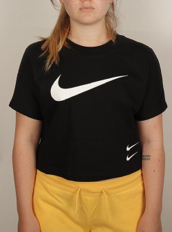 Nike Swoosh top Black white